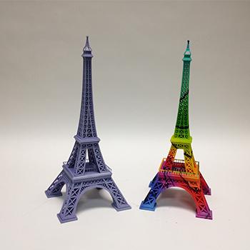 3D yazıcı renkli modeller
